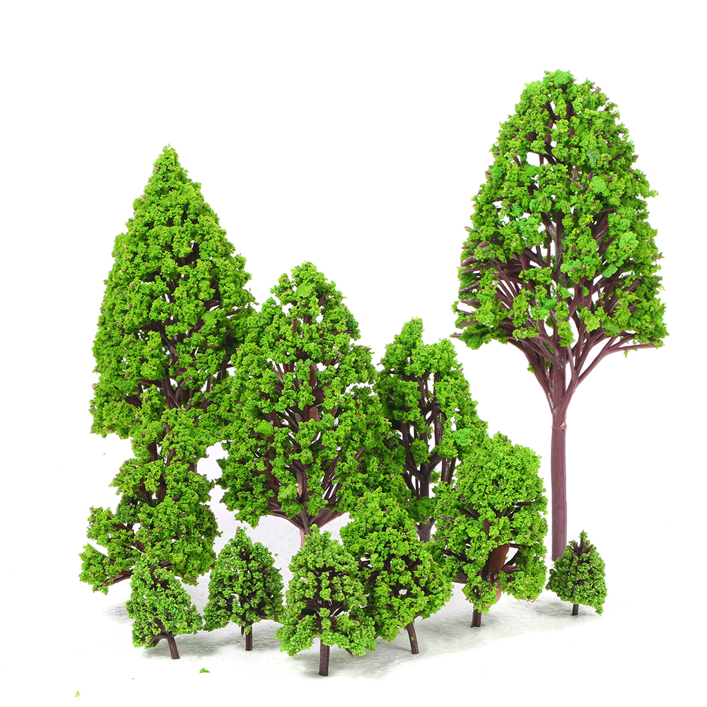 12PCS Plastic Model Trees Architectural Models for Railroad Layout Garden Landscape Scenery Style 2 image