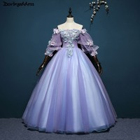 Purple Quinceanera Dresses 2018 Ball Gown Sweet 16 Dresses For 15 Years Lace Prom Dresses Vestidos De 15 Anos Quinceanera Gowns