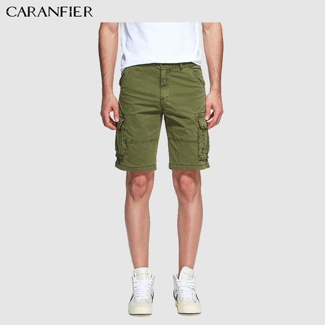 CARANFIER New Arrive 2019 Summer Shorts Men Sweatpants Fashion Casual High Quality Cotton Vintage Cargo Shorts Plus Size Man Pants and Trosures