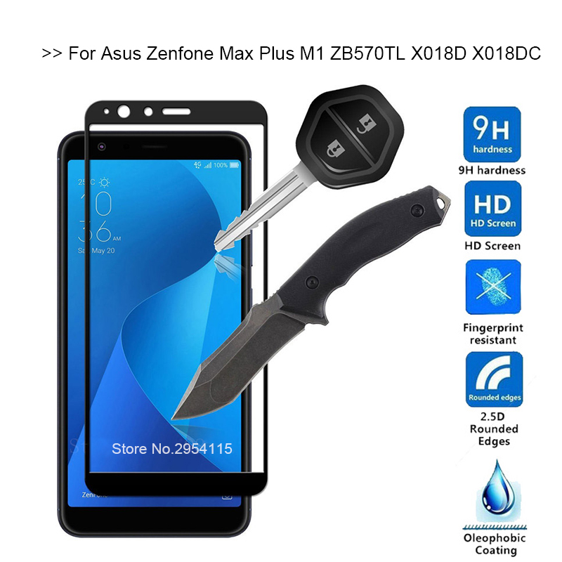Tempered Glass For Asus Zenfone Max Plus M1 Glass Screen Protector For Asus Zenfone Max Plus M1 ZB570TL X018D X018DC Cover Film