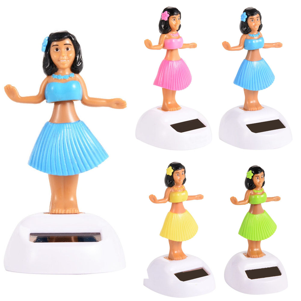 Automobiles & Motorcycles Interior Accessories Syxzfz Random Color Solar Powered Hawaii Dancing Hula Girl Swinging Bobble Car Decoration Toy Gift Products Are Sold Without Limitations