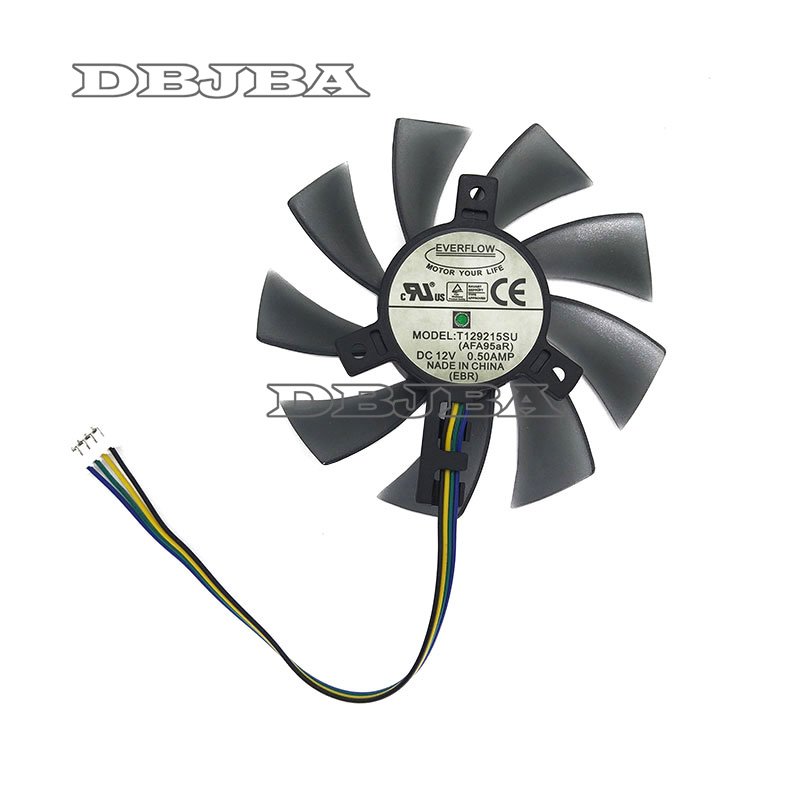 85MM T129215SU 4Pin Cooling Fan Replace For ASUS <font><b>GTX</b></font> <font><b>460</b></font> 560 <font><b>GTX</b></font> 960 Mini HD 6790 6870 <font><b>Graphics</b></font> <font><b>Card</b></font> Cooler Fans image