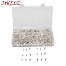 цена на 840pcs/box Terminals Non-Insulated Ring Fork U-type Brass Terminals Assortment Kit Cable Wire Connector Crimp Spade Set it-840