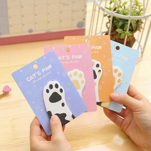 Japanese Self-Adhesive Memo Pad Sticky Note Color Cat Claw Animal Note Office Stationery And School Supplies 1PCS / 30 Pages недорого