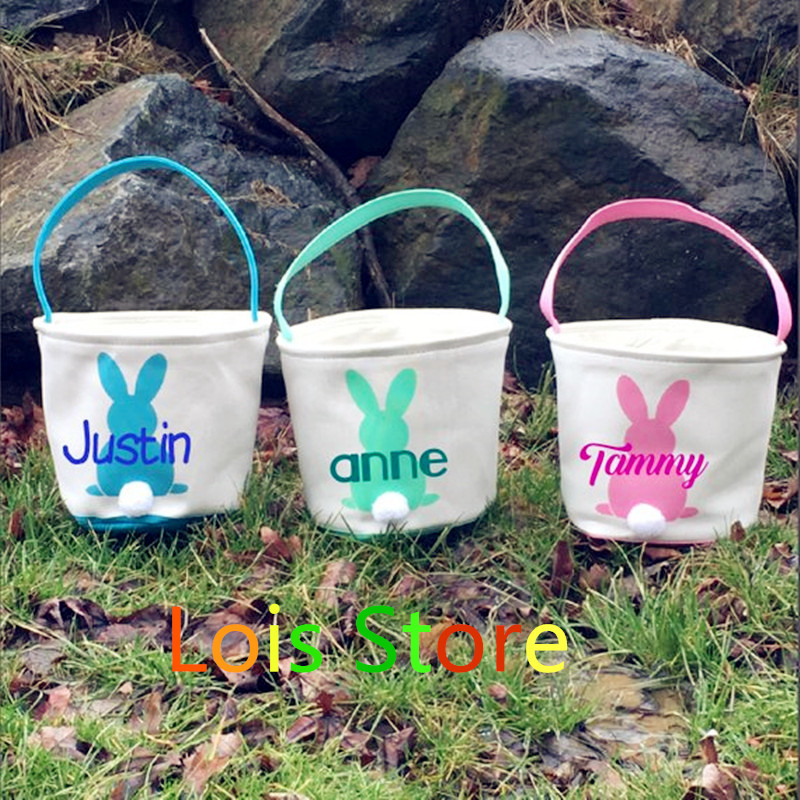 Easter Basket Bag 10pcs/lot 18 Styles Easter Bunny Tote Bag Monogrammed Blank Easter Rabbit Buckets Fast Shipping-in Gift Bags & Wrapping Supplies from Home & Garden    2