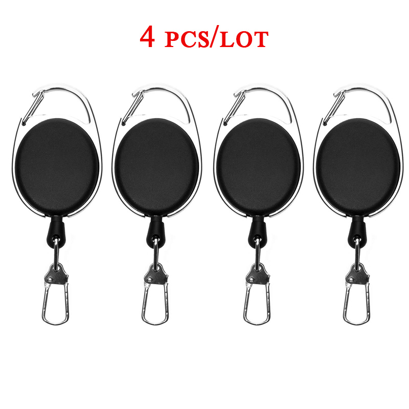 Retractable Key Chain Reel Badge Holder Fly Fishing Zinger Retractor with Quick Release Spring Clip Fishing Accessories