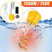 220V Portable Suspension Alloy Electric Floating Immersion Heater Boiler Water Heating Element For Bathroom Travel Home Bathtubs