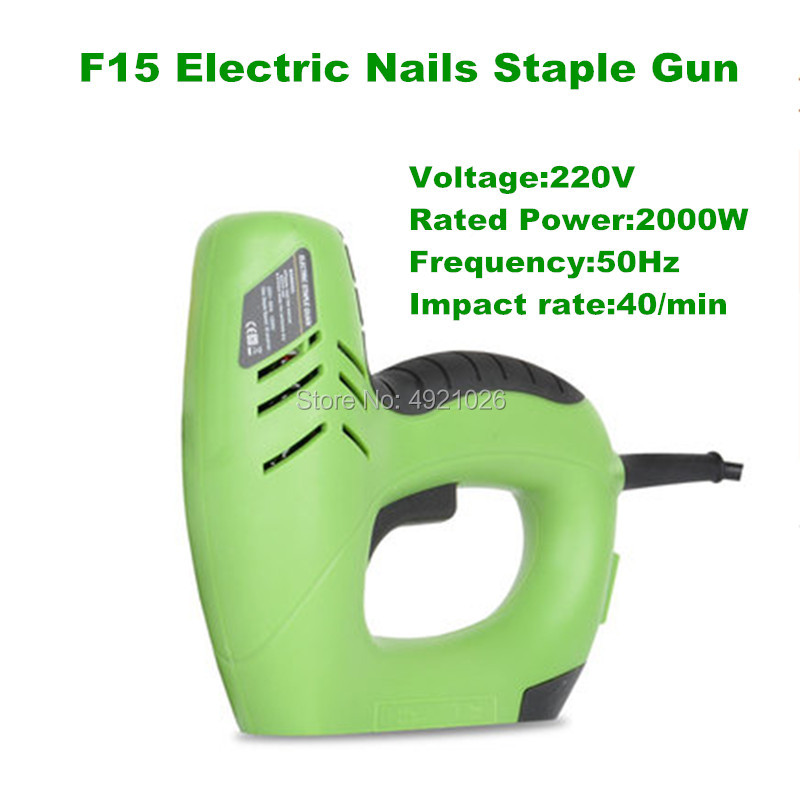 Free shipping F15 U Staple 2 In 1 Framing Tacker Electric Nails Staple Gun 220V Electric Power Tools Electric Stapler GunFree shipping F15 U Staple 2 In 1 Framing Tacker Electric Nails Staple Gun 220V Electric Power Tools Electric Stapler Gun