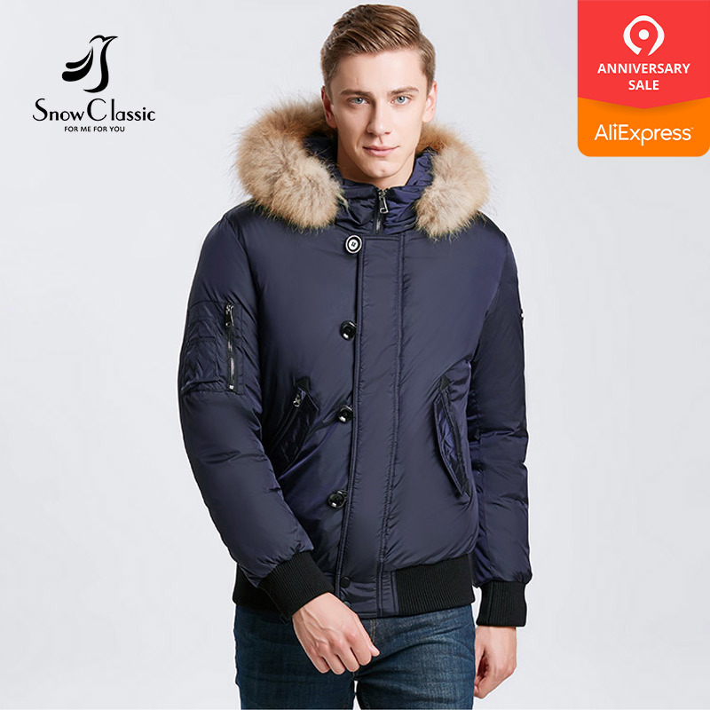 Snowclassic 2018 겨울 남성 자켓 머리카락 짙어지면서 따뜻한 패션 비즈니스 캐주얼 포터 섹션 큰 야드의 바람 17533-에서파카부터 남성 의류 의  그룹 1
