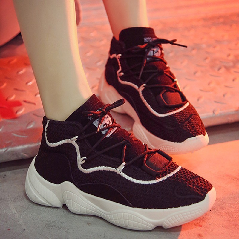 Respirant Femmes Noir Maille Mujer Baskets Black Automne white blanc Confortable Lumière Solide Chaussures Zapatillas Hiver Air Bq5vdCn