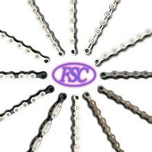 FSC Высококачественная велосипедная цепь 1,6, 7,8, 9,10, 11 скоростей для MTB/шоссейного велосипеда 100л/114л/116л/полый дешевый велосипед цепи