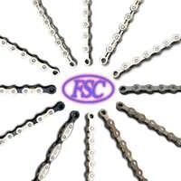 Cadena de bicicleta FSC de alta calidad 1,6, 7,8, 9,10, 11 velocidades para MTB/bicicleta de carretera 100L/114L/116L/Full hollow cadenas de bicicleta baratas