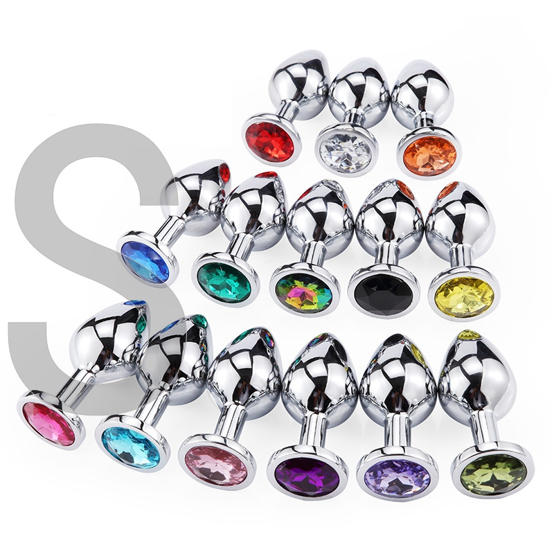 1pcs Stainless Steel <font><b>Butt</b></font> <font><b>Plug</b></font> Anal Beads Crystal Jewelry Heart Stimulator <font><b>Sex</b></font> <font><b>Toys</b></font> Dildo Anal <font><b>Plug</b></font> Gay <font><b>Sex</b></font> Products Anal <font><b>Sex</b></font> image