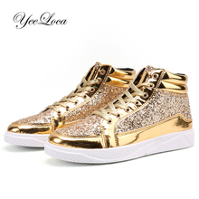 Buy shiny high tops and get free shipping on AliExpress.com 0a3decc02018