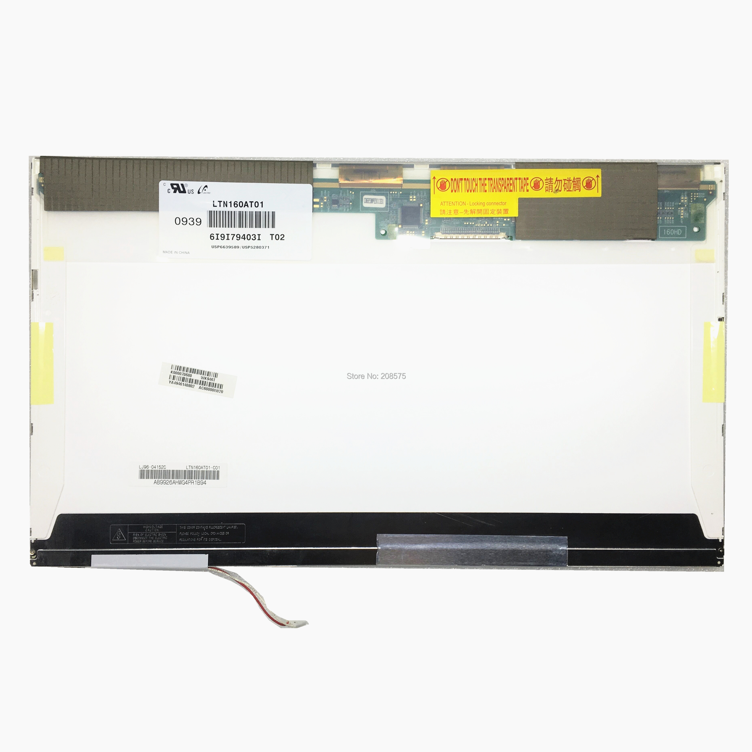 Free Shipping LTN160AT01 LTN160AT02 For Asus X61S Acer 6920 6930G 6935 6935G Toshiba AX 53HPK HP