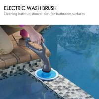 4pcs/set Cordless Hurricane Muscle Scrubber Electrical Cleaning Brush with Brush Heads Bathroom Surface Shower Tile Floor Brush