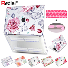 Redlai Case For Newest MacBook Air 13 2018 Release A1932 Retina Display Floral Print Plastic Hard Shell + Keyboard Cover