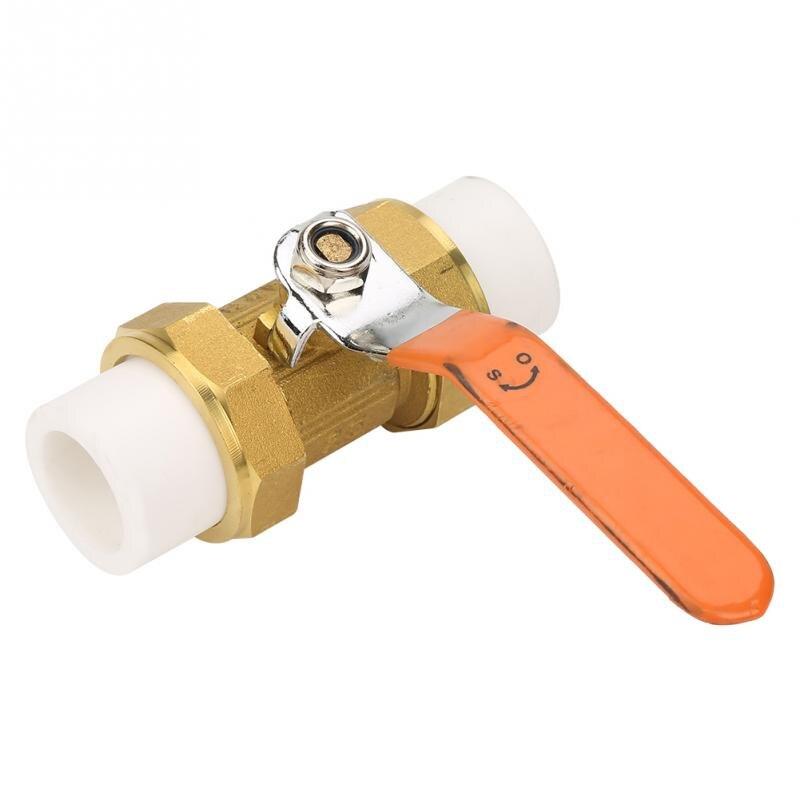 Ventil Heimwerker Dn50/dn40/dn32/dn25/dn20 Messing Rohr Ball Ventil Mit Doppel Ppr Schmelz Fitting