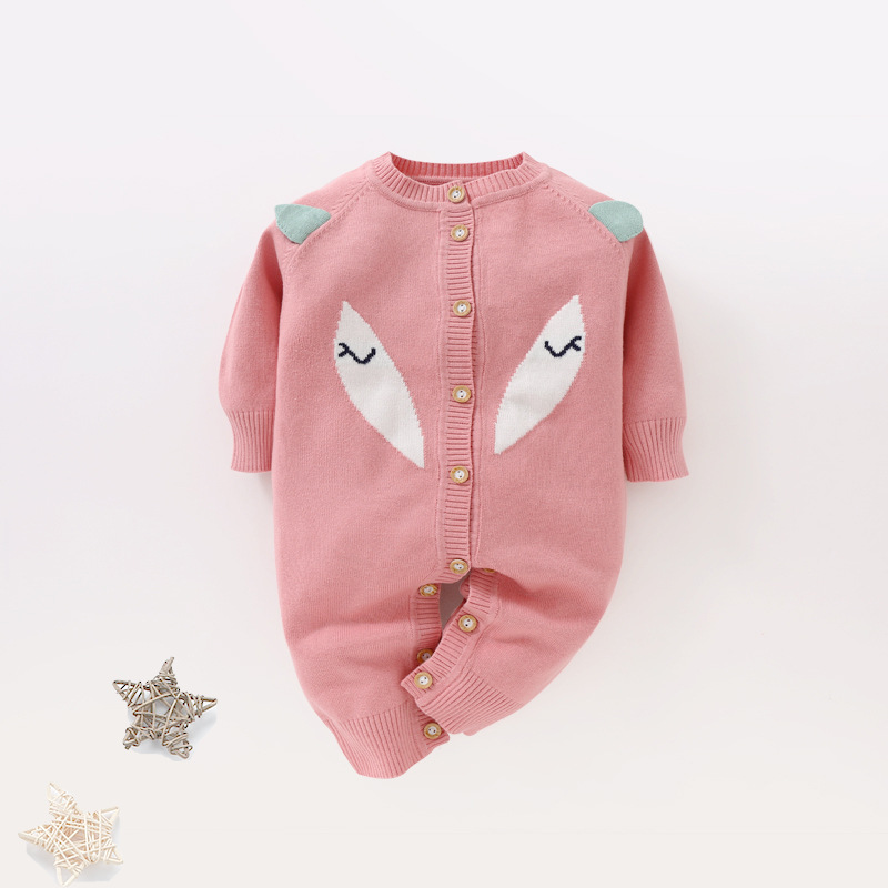 Newborn Baby   Rompers   Winter Warm Thick Knit Sweater   Romper   Infant Boys Girls Jumpsuit Toddler Clothes With Quality Assurance