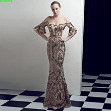 2018 New Real Vestido Longo Summer Dress Plus Size Europe And The Court Style Long Thin Banquet Night Club Sequins Sexy