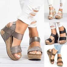 Wedges Shoes For Women Sandals Plus Size High Heels Summer Shoes 2019 Flip Flop Chaussures Femme Platform Sandals 2019