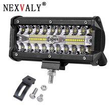 7inch 120w LED work light bar combo beam car Driving lights for Off Road truck 4WD 4x4 UAZ motorcycle ramp 12V 24V auto fog lamp стоимость