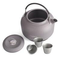 Это 1.4L Титан походный чайник воды чайник открытый Кофе горшок портативная плита с мешком сетки и 3 Титан чашки