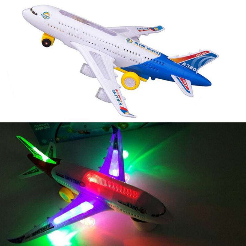 Toy Electric Airplane Child Toy Musical Toys Moving Flashing Lights Sounds Toy For Children Christmas Gifts