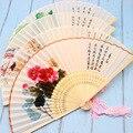 Настоящий Шелковый женский китайский бамбуковый веер  летний веер  античный складной веер для танцев  винтажный свадебный веер и подарки  Б...