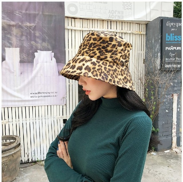 2019 New Fashion Summer Leopard Animal Printed Bucket Hats Fishing Cap  Women Men-in Bucket Hats from Apparel Accessories on Aliexpress.com  ac509b917b26