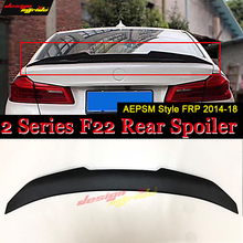 For BMW F22 wing lip Tail Spoiler rear FRP Primer black AEPSM style 220i 228i 230i 235i trunk Lip 2014-18
