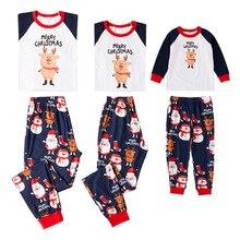 Outfits Pajamas-Set Sleepwear Christmas Family Matching Nightwear Xmas Family-Look Pjs