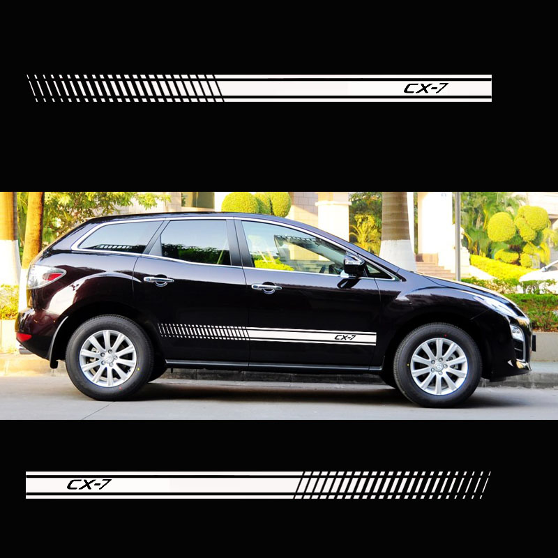 Stylish Car Door Side Sticker Vinyl Body Decal Racing Stripe Sticker For Mazda CX7 Cx-7 Car Accessories