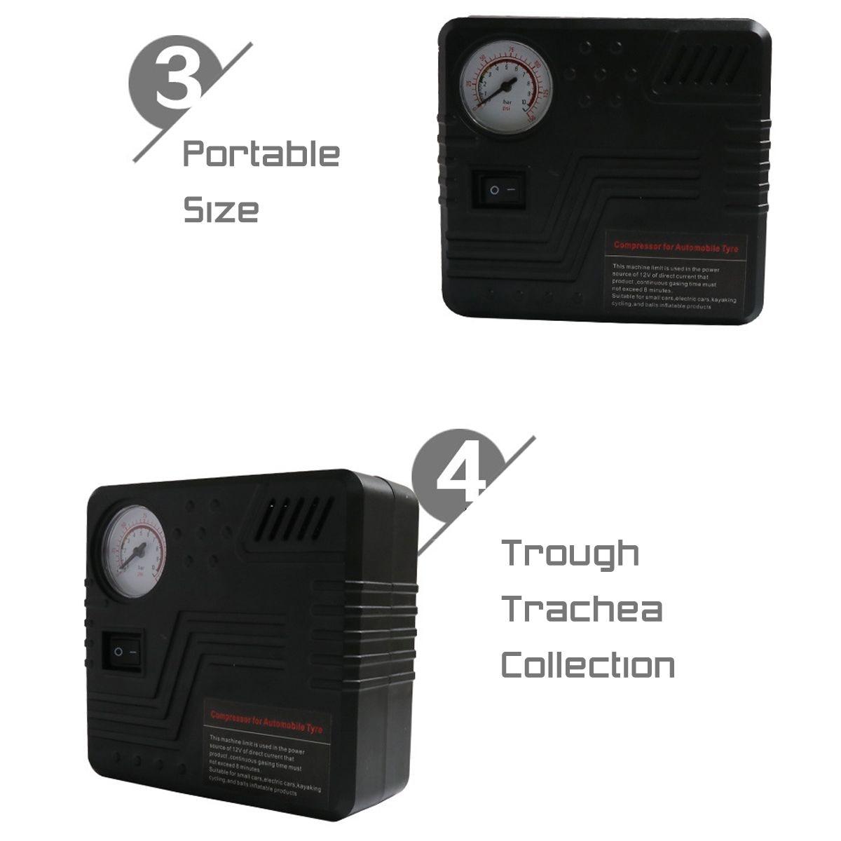 12V Portable Mini 19 Cylinders Car Auto Air Compressor