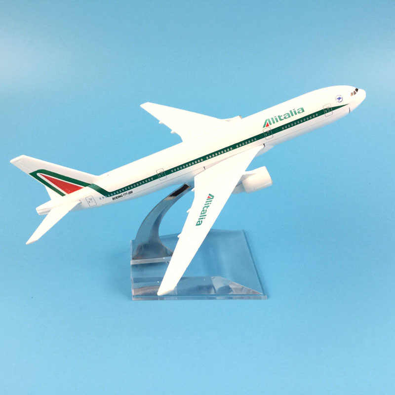 16cm avión modelo Alitalia Boeing 777 avión modelo de Metal fundido aviones modelo 1:400 avión juguete regalo