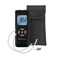 Digital Manometer Portable Pressure Gauge Handheld LCD Screen Air Gas Pressure Meter Tester Backlight Measuring Tools Kit Pouch
