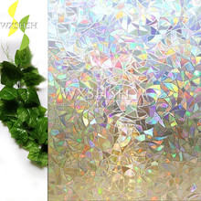 Multiple sizes available 3D laser decorative frosted window film,stained opaque vinyl heat transfer glass stickers,self-adhesive