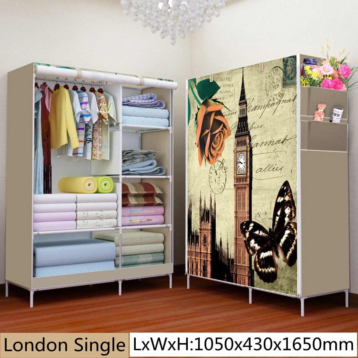 When the quarter wardrobe DIY Non woven fold Portable