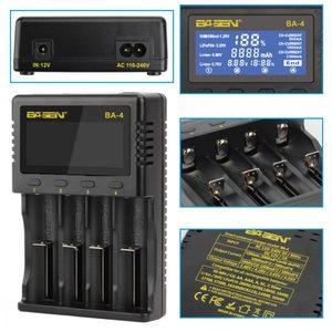 Image 5 - LEORY 배터리 충전기 LCD 화면 LCD 디스플레이 충전기 12V 1A EU/US 플러그 1.2V 3.7V 3.2V 26650 18650 14500 li ionBattery AA/AAA