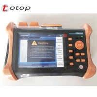 5.6 inch TFT-LCD Touchscreen Handheld OTDR TMO-300-SM-A/B/C, 1310/1550nm, 32/30dB 30/28dB 28/26dB, Integrated 10mw VFL TMO300