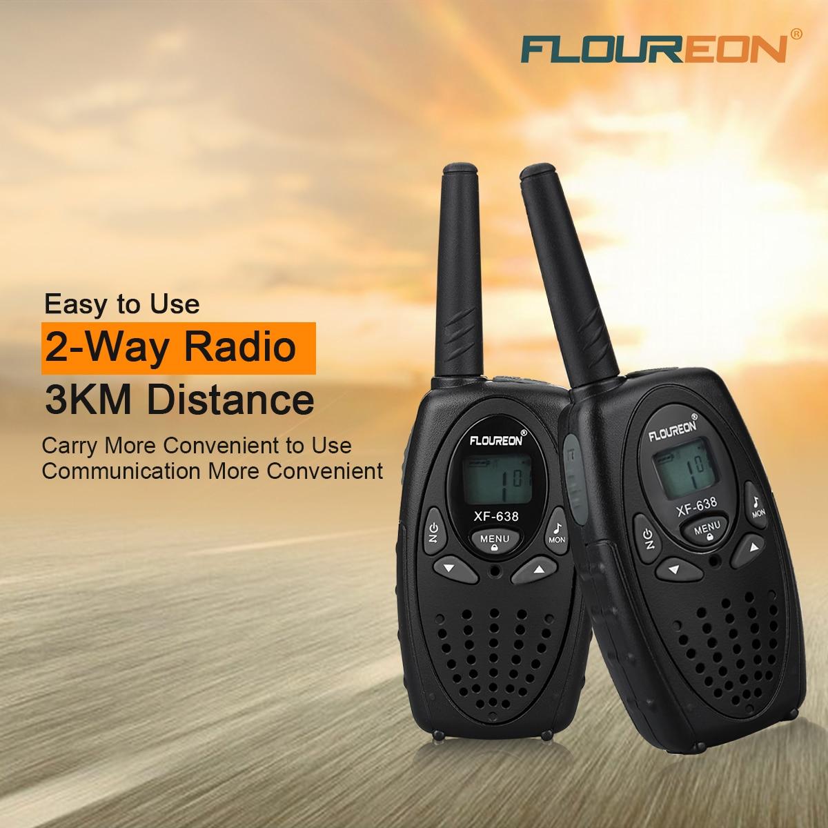 Pflichtbewusst Floureon 8 Kanal Walkie Talkies Uhf400-470mhz Zwei-weg Radio 3 Km Sprech Schwarz Eu/uk Exquisite Traditionelle Stickkunst Audio Intercom