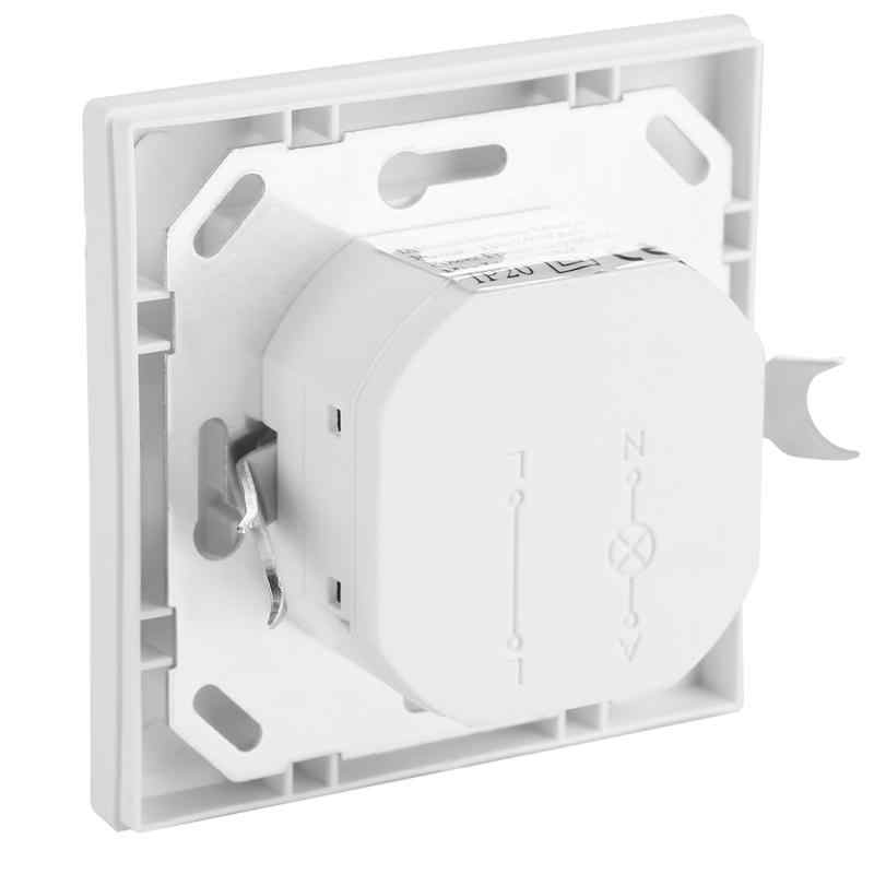 Инфракрасный PIR датчик движения переключатель ПВХ Встроенный Настенный светильник переключатель лампы вкл/выкл и переключатель пассивного инфракрасного датчика выключатель лампы schakelaar