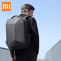 Xiaomi Trendy Geometric Splicing Reflective Water Resistant Backpack Soft PU Waterproof Large Capacity Unisex Outdoor Bags