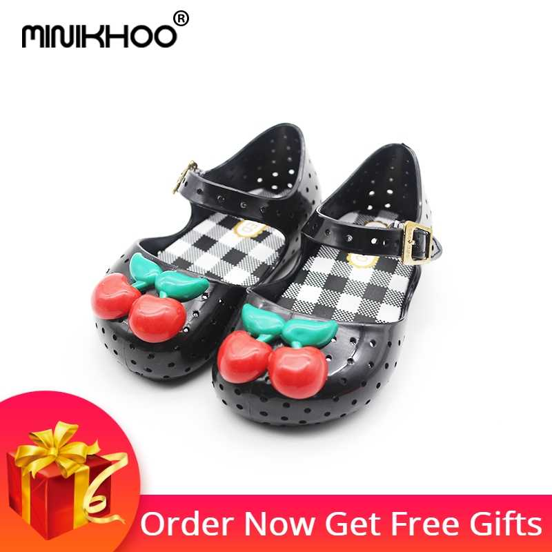 Mini Melissa 2018 Cherry Girl Jelly Sandals Children Shoes Girl Princess  Sandals Comfortable Baby Shoes 14 13c61b138