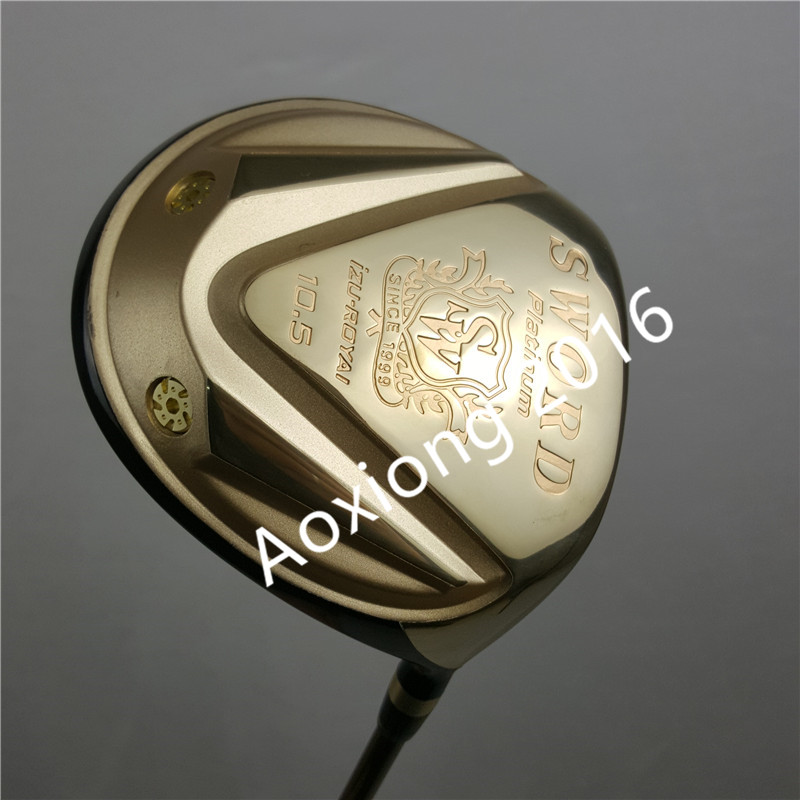 New Golf clubs katana SWORD  Gold color Golf driver 10.5 loft Graphite shaft R or S flex driver Clubs Free shippingNew Golf clubs katana SWORD  Gold color Golf driver 10.5 loft Graphite shaft R or S flex driver Clubs Free shipping