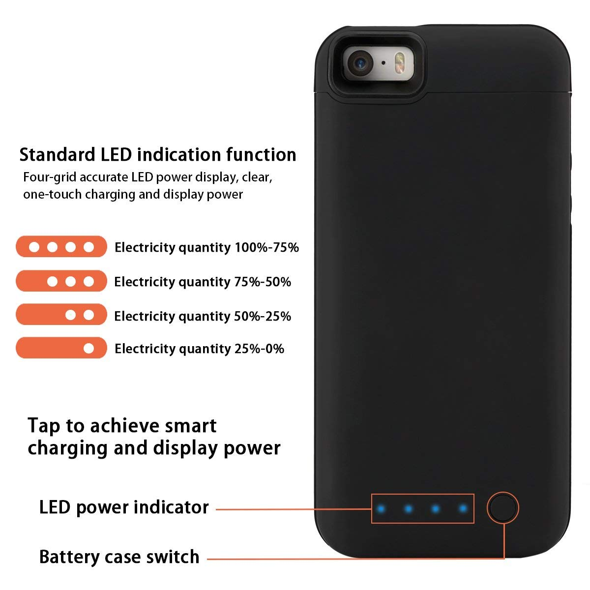 b91a9c13a49 CASEWIN Battery Charger Case For iPhone SE 5SE 5 5S 4000mAh Power Bank  Charging Case Powerbank Charger Case For iPhone 5 case