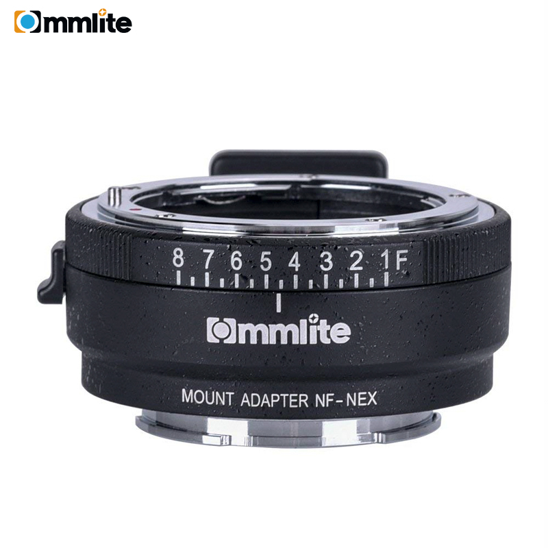 Commlite CM-NF-NEX Manual Focus Lens Mount Adapter Ring For Nikon G,F,A,I,S,D Lens To Use For Sony NEX E Mount Cameras