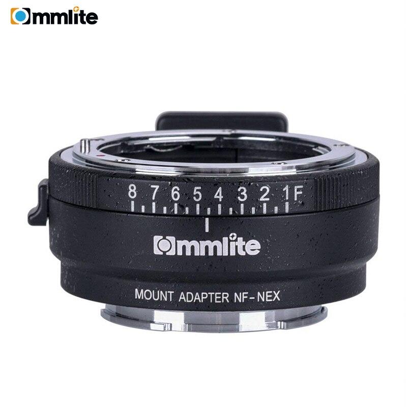Bague d'adaptation Commlite CM-NF-NEX pour monture d'objectif à mise au point manuelle pour objectif Nikon G, F, A, I, S, D à utiliser pour les caméras Sony NEX E