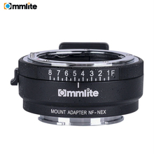 Commlite CM-NF-NEX Manual Focus Lens Mount Adapter Ring for Nikon G,F,A,I,S,D to use Sony NEX E Cameras