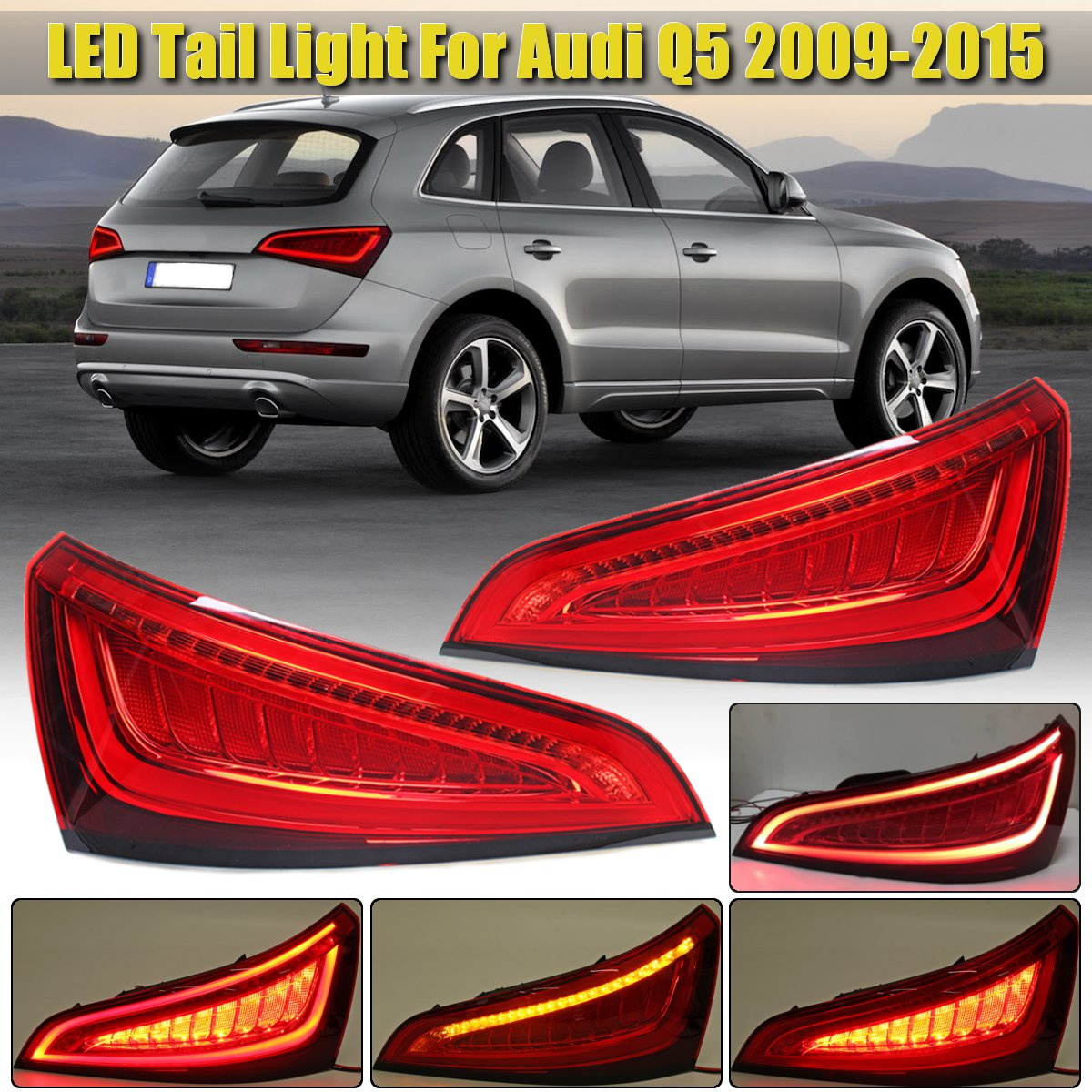Paire feu arrière pour Audi Q5 2009 2010 2011 2012 2013 2014 2015 LED feu arrière clignotant feu arrière